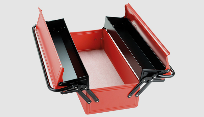 boite outils m tallique 3 cases long 515 vide. Black Bedroom Furniture Sets. Home Design Ideas